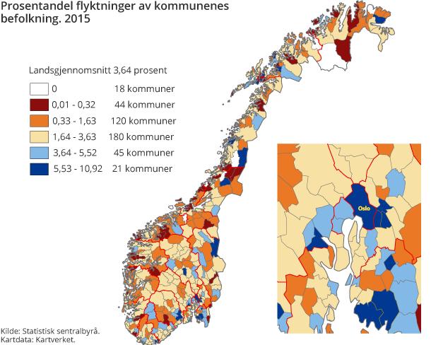 hvor mange mennesker bor det i norge